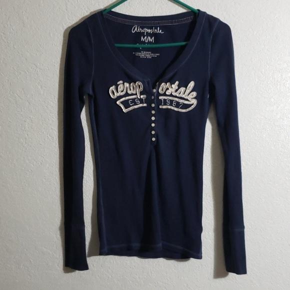Aeropostale Tops - Blue thermal shirt